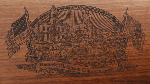 Dickinson County Kansas Engraved Rifle