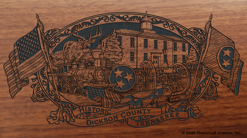 Dickson County Tennessee Engraved Rifle