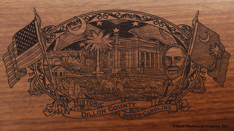 Dillon County South Carolina Engraved Rifle