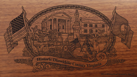 Dinwiddie County Virginia Engraved Rifle