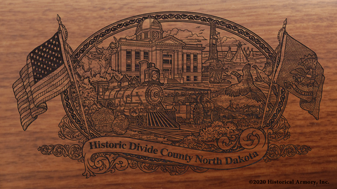 Divide County North Dakota Engraved Rifle