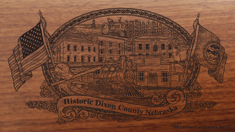 Dixon County Nebraska Engraved Rifle