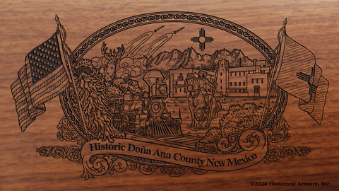 Doña Ana County New Mexico Engraved Rifle