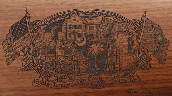 dorchester county south carolina engraved rifle buttstock