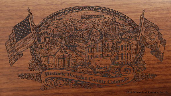 Douglas County Colorado Engraved Rifle