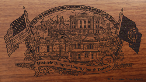 Douglas County South Dakota Engraved Rifle