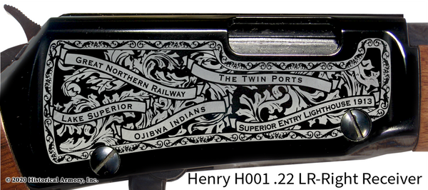 Douglas County Wisconsin Engraved Rifle