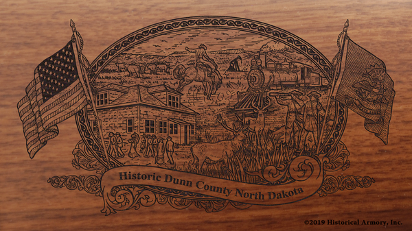 Dunn County North Dakota Engraved Rifle