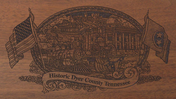 dyer county tennessee engraved rifle buttstock