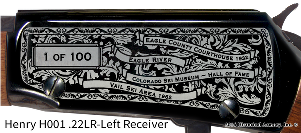 Eagle County Colorado Engraved Rifle
