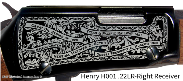 Ector County Texas Engraved Rifle