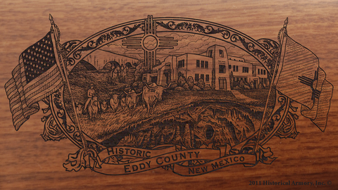 Eddy County New Mexico Engraved Rifle