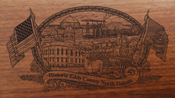 Eddy County North Dakota Engraved Rifle