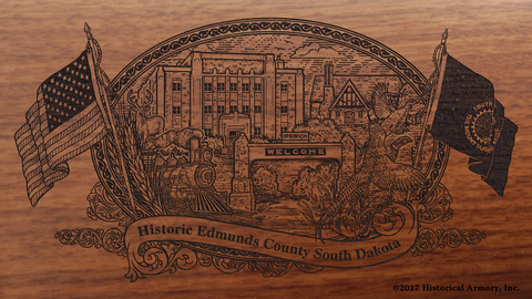 Edmunds County South Dakota Engraved Rifle