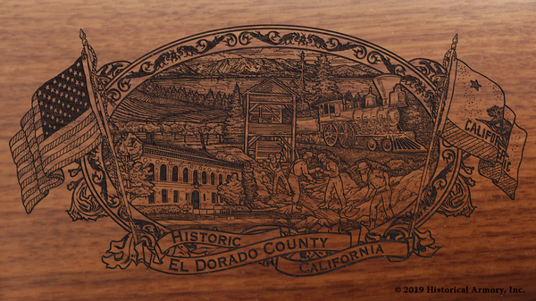 El Dorado County California Engraved Rifle