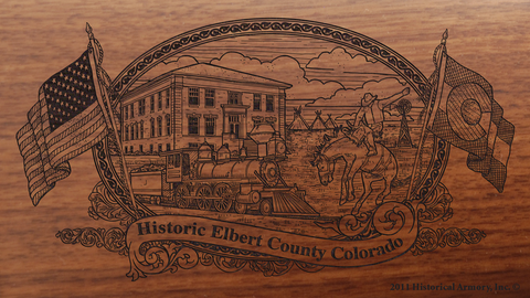 Elbert County Colorado Engraved Rifle