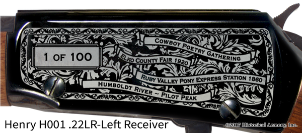 Elko County Nevada Engraved Rifle