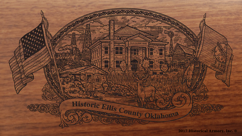 Ellis County Oklahoma Engraved Rifle