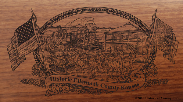 Ellsworth County Kansas Engraved Rifle