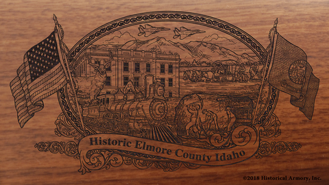 Elmore County Idaho Engraved Rifle