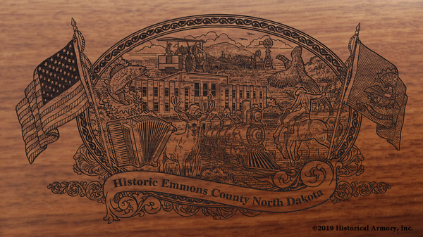 Emmons County North Dakota Engraved Rifle