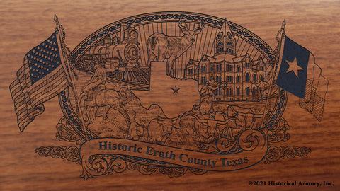 Erath County Texas Engraved Rifle Buttstock