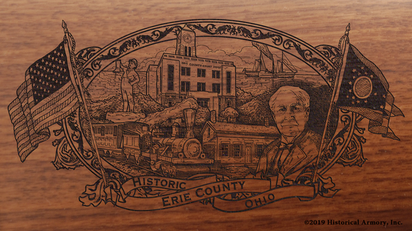 Erie County Ohio Engraved Rifle