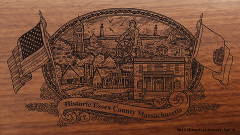 Essex County Massachusetts Engraved Rifle