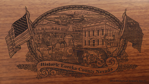 Eureka County Nevada Engraved Rifle