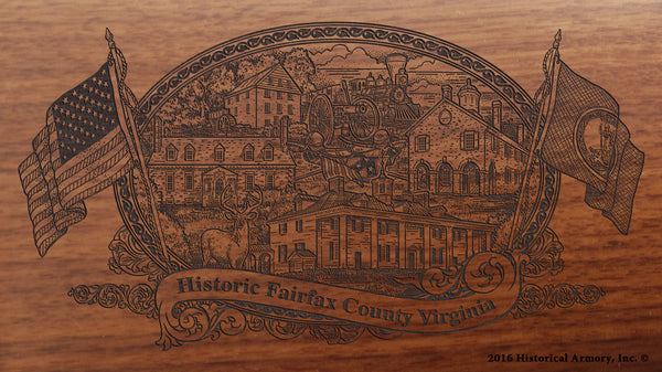 Fairfax County Virginia Engraved Rifle