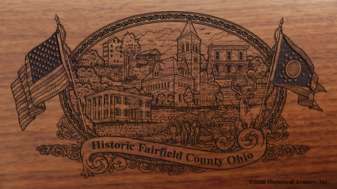 Fairfield County Ohio Engraved Rifle