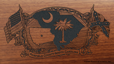 Fairfield County South Carolina Engraved Rifle