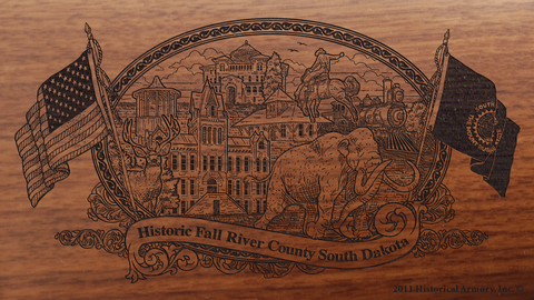 Fall River County South Dakota Engraved Rifle