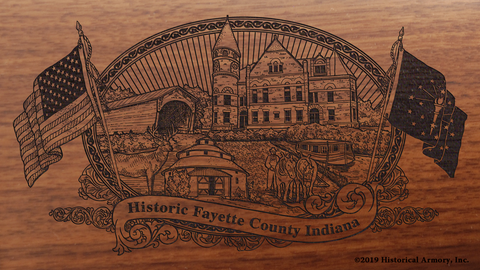 Fayette County Indiana Engraved Rifle