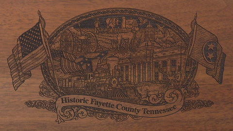 fayette county tennessee engraved rifle buttstock