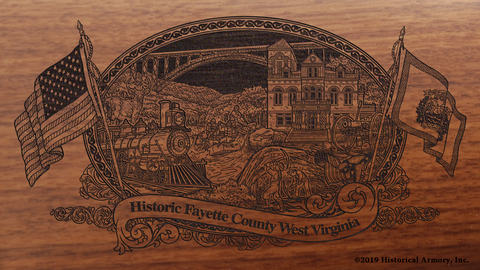 Fayette County West Virginia Engraved Rifle