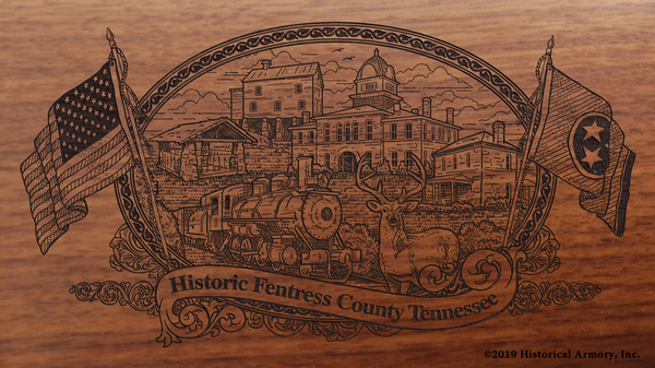 Fentress County Tennessee Engraved Rifle
