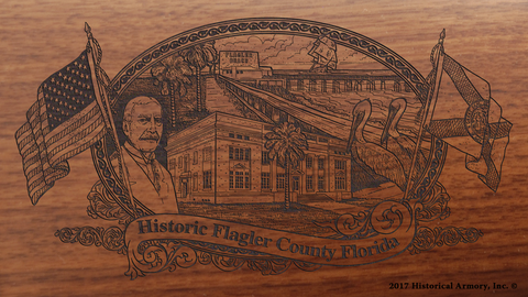 Flagler County Florida Engraved Rifle