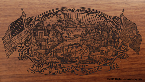 Flathead County Montana Engraved Rifle