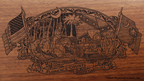 Florence County South Carolina Engraved Rifle
