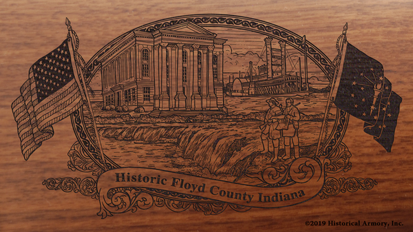 Floyd County Indiana Engraved Rifle