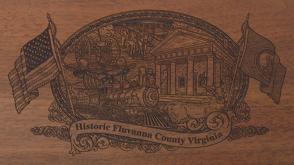 fluvanna county virginia engraved rifle buttstock