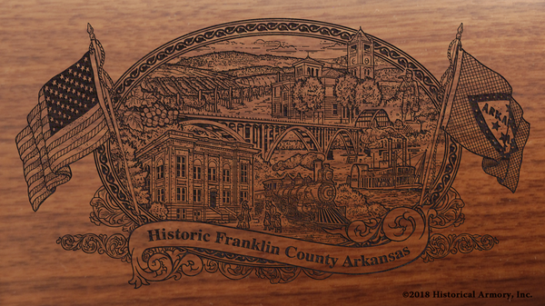 Franklin County Arkansas Engraved Rifle