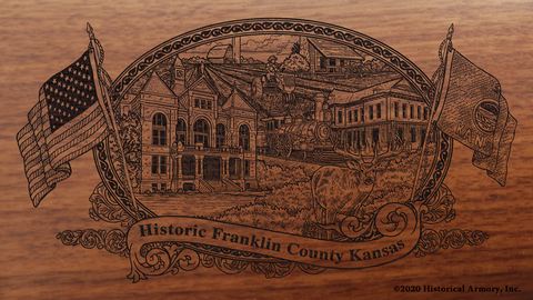 Franklin County Kansas Engraved Rifle