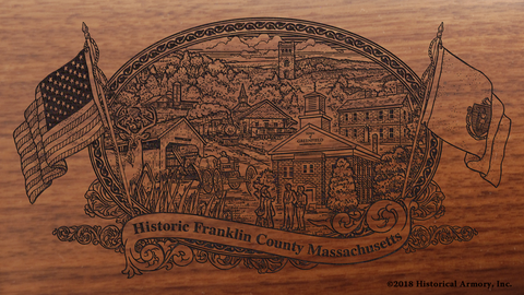Franklin County Massachusetts Engraved Rifle