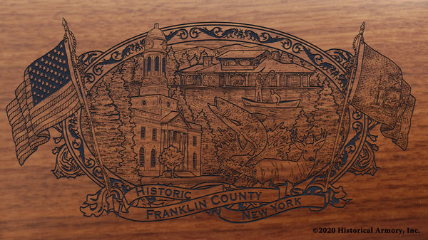 Franklin County New York Engraved Rifle Buttstock