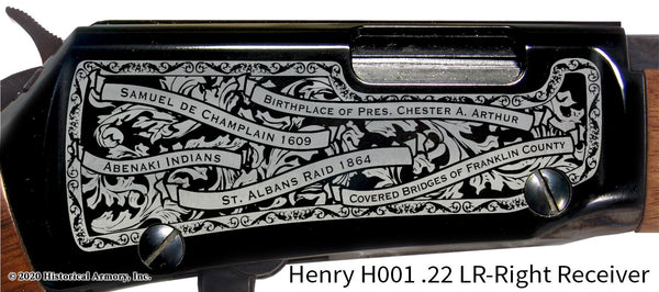 Franklin County Vermont Engraved Henry H001 Rifle