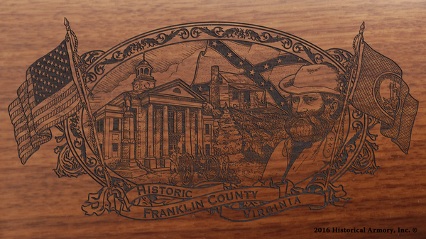 Franklin County Virginia Engraved Rifle