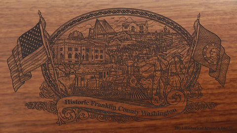 franklin county washington engraved rifle buttstock