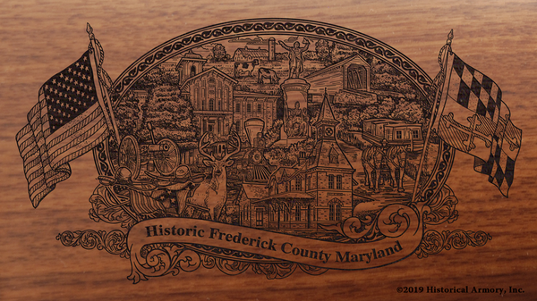 Frederick County Maryland Engraved Rifle